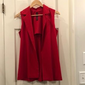 Gorgeous vibrant Red vest never worn XS